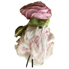 I. Magnin 1950's Millinery Floral Fascinator Deadstock Unworn