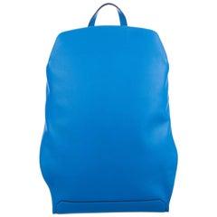 Hermes Blue Men's Women's Carryall Leather Backpack Travel Shoulder Bag in Box