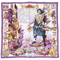 Hermes Les Ameriques by Kermit Oliver Silk Scarf