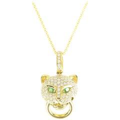 Anita Ko Diamond Panther Knocker Necklace