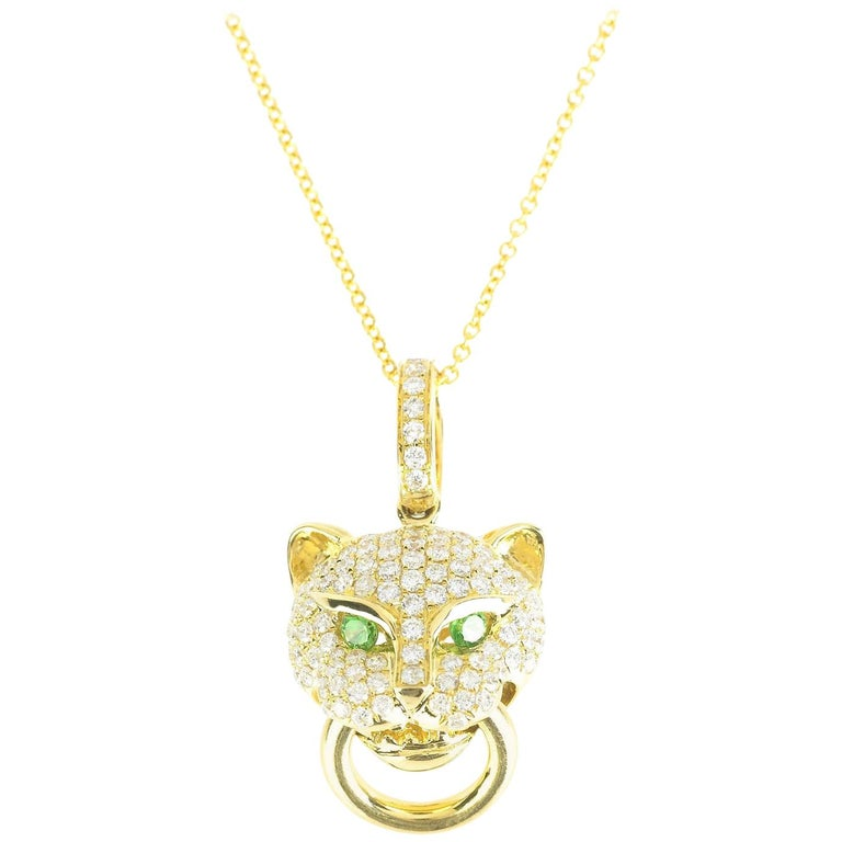 d5d7e2b6e7f Anita Ko Diamond Panther Knocker Necklace at 1stdibs