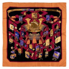 Very Rare Vintage Hermes Silk Scarf 'Reveries Japonaises' by Caty Latham