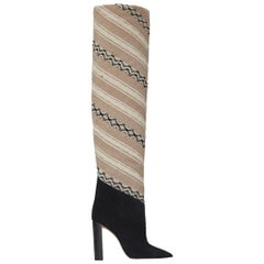 Saint Laurent Tanger 105 Ikat Over-The-Knee Boots