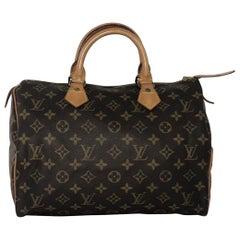 Louis Vuitton Monogram Speedy 30 Satchel Top Handle Handbag