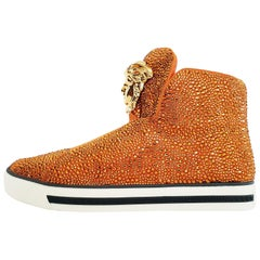 Versace Palazzo High -Top Crystal Embellished Sneakers