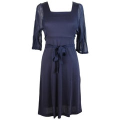 2000s Philosophy By Alberta Ferretti Vintage Blue Cotton Dress