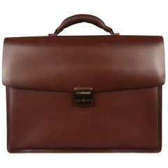 "MONTBLANC ""ITA NISSAN"" Brown Leather Briefcase Bag"