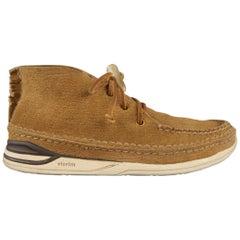 VISVIM Size 9.5 Tan Textured Suede Chukka Boots