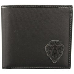 GUCCI Black Leather Nylon Wallet