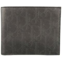 DIOR Homme Black Leather Monogram Wallet
