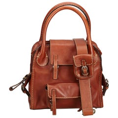 Chloe Brown Leather Satchel