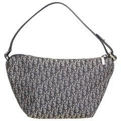 Dior Gray x Black Oblique Canvas Handbag