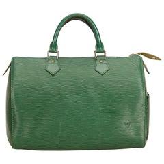 Louis Vuitton Green Epi Speedy 35