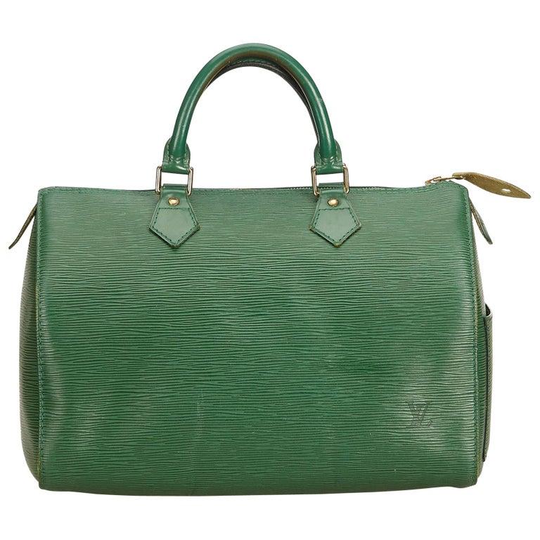 4309e2b43b31 Louis Vuitton Green Epi Speedy 35 at 1stdibs