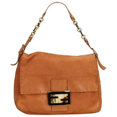 Fendi Brown x Light Brown Leather Mamma Forever
