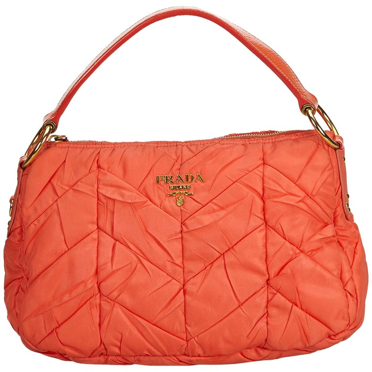4641ed73f4f0 Prada Orange Nylon Tessuto Baguette at 1stdibs