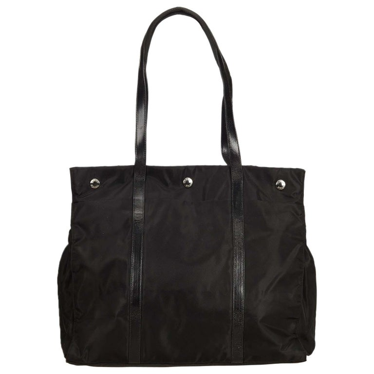 ff6fad370c4154 Prada Black Nylon Shoulder Bag at 1stdibs