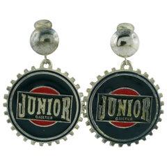 Jean Paul Gaultier Vintage Gear Dangling Earrings