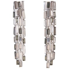 Simon Harrison Caddis Multi Baguette Long Drop Earrings