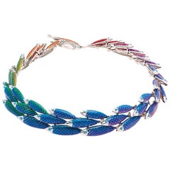 Simon Harrison Rainbow Enamel Electra Fish Small Necklace