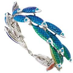 Simon Harrison Rainbow Enamel Electra Fish Small Bracelet