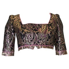 Vintage Brocade Crop Top
