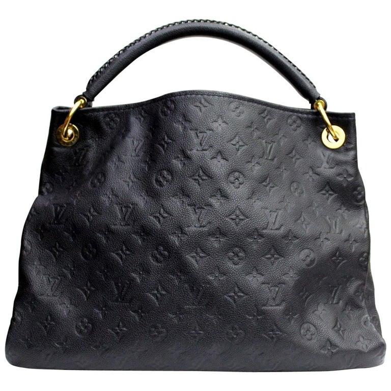 Louis Vuitton Bleu Infini Monogram Empreinte Leather Artsy MM Bag For Sale b20bc128b5