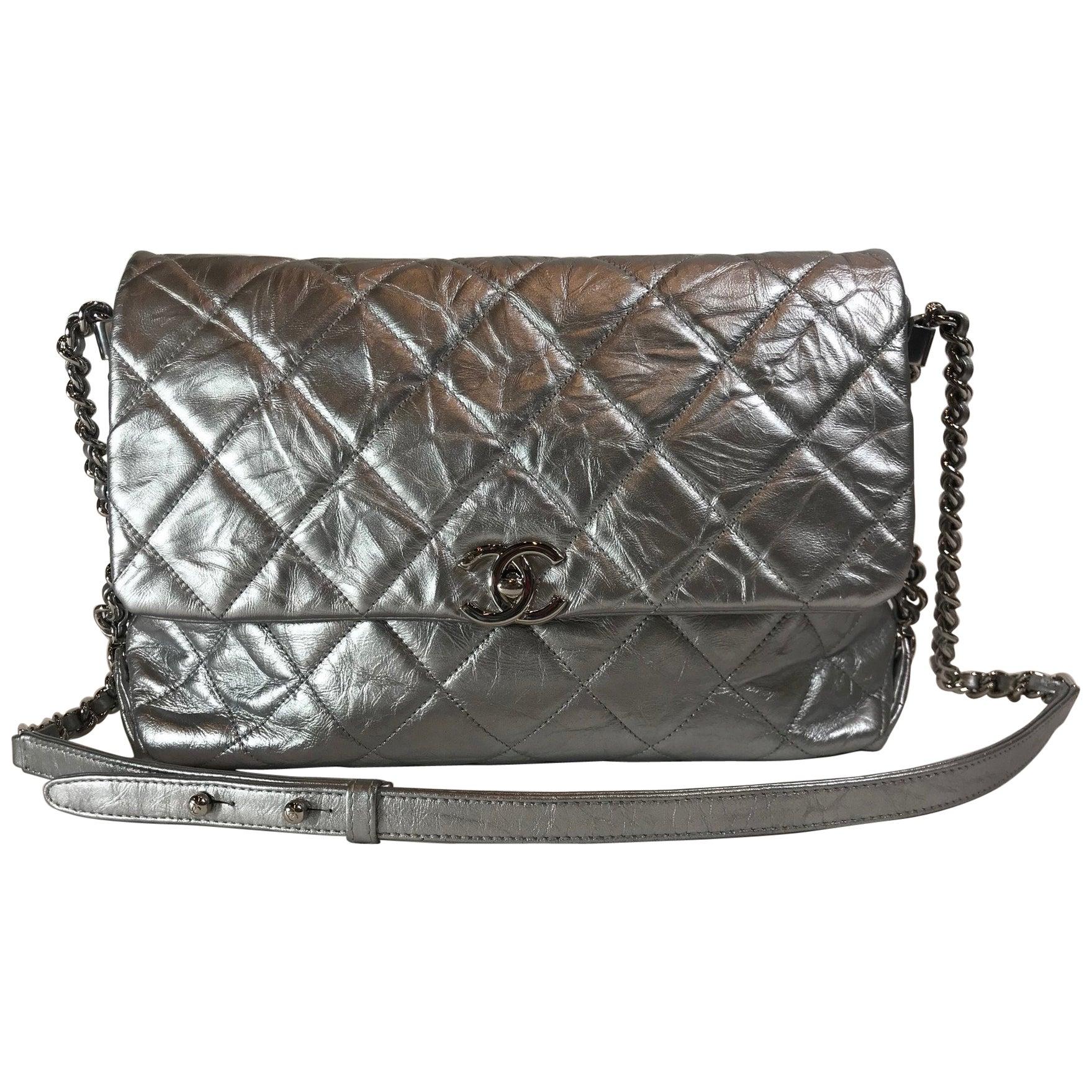8019c597881c Chanel Metallic Crumpled Calfskin Big Bang Flap Bag For Sale at 1stdibs