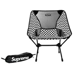 Supreme x Helinox COLLECTOR'S Black/White Check Folding Chair with Logo Bag