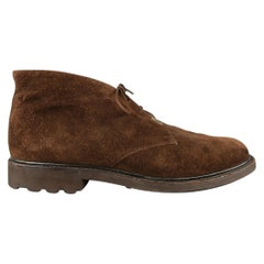 JOSEPH FENESTRIER Size 9.5 Brown Solid Suede Chukka Boots
