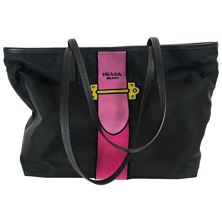 a9a47d8faa3f Prada Nylon Trompe L'oeil Velvet Tote Bag For Sale at 1stdibs