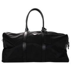 Prada Unisex Black Tessuto Nylon/Saffiano Leather V20S Duffle Bag W/ Luggage Tag