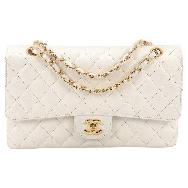 838cdca0e849 Chanel Vintage Classic Double Flap Bag Quilted Caviar Medium at 1stdibs