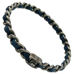 Chanel Turnlock Leather Chain Bangle Bracelet