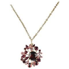 De Liguoro Vintage Haute Couture Necklace with Crystal Pendant