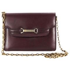 Maroon Vintage Gucci Leather Shoulder Bag