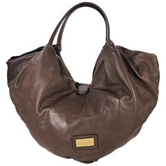 Brown Valentino Leather Folie Bow Hobo Bag