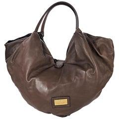 Brown Valentino Leather Folie Bow Hobo Bag