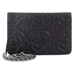 Chanel Wallet On Chain Camellia Caviar