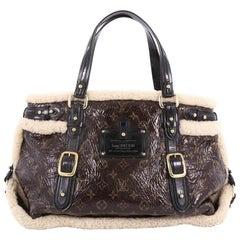 Louis Vuitton Thunder Handbag Limited Edition Monogram And Shearling