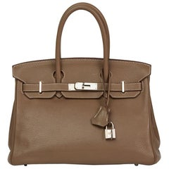 2008 Hermés Etoupe Togo Leather Birkin 30cm