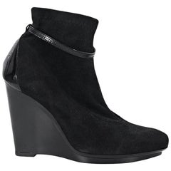 Black Robert Clergerie Suede Ankle Boots