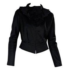 Black Balenciaga Fitted Jacket