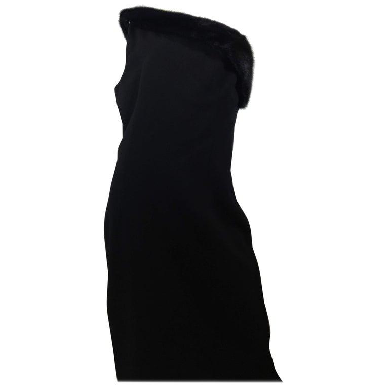 Michael Kors Black One Shoulder Dress For Sale