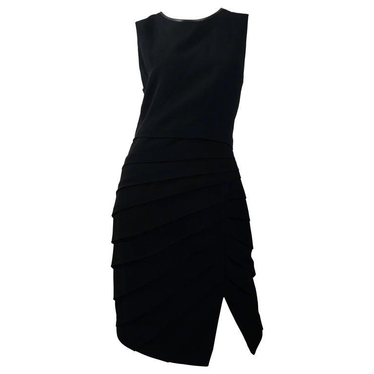 Rag & Bone Black Sleeveless Pleated Dress For Sale