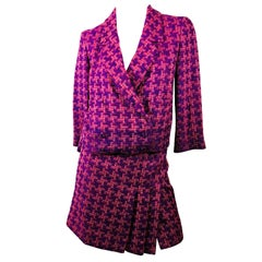Chanel Lavender 2 PC Skirt And Jacket