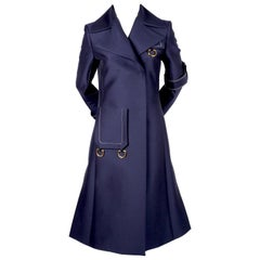2015 CELINE by PHOEBE PHILO navy blue runway coat - new