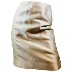 Chanel Beige Pencil Skirt