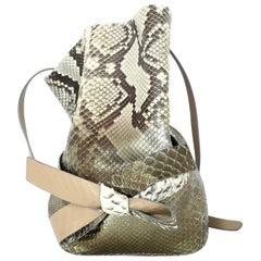 Jimmy Choo Natural Eve Metallic Degrade Python Snakeskin Bucket Bag