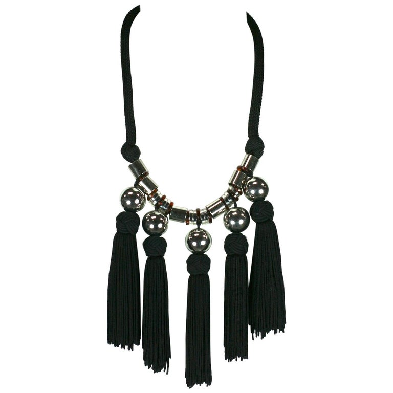 d9ce91f7ba7 Yves Saint Laurent Chinese Passementerie Necklace For Sale at 1stdibs